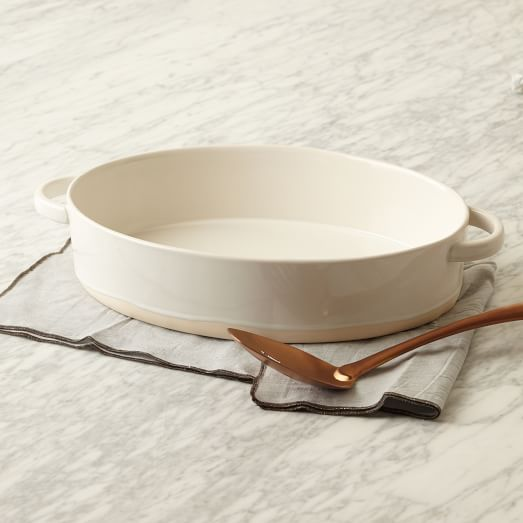 Scape Bakeware, Oval Baker, No Lid, Stoneware, White