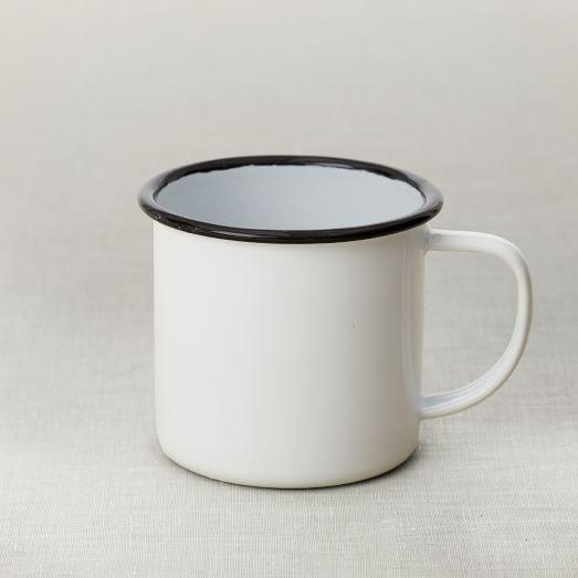 Enamelware Mugs, Set of 4