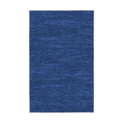 Watercolor Solid Rug - True Blue