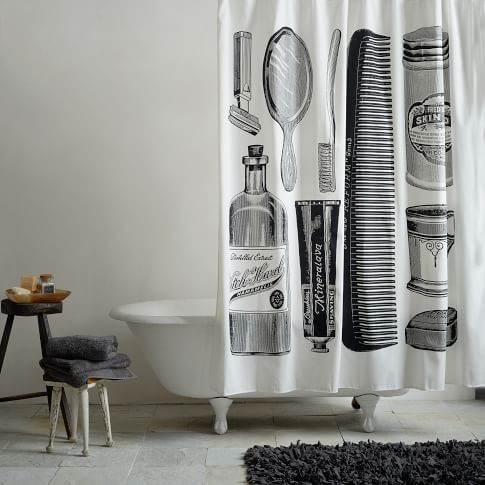 Shower Curtain Apothecary