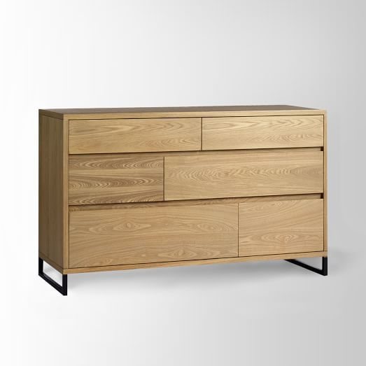 Hudson Dresser, 6-Drawer Barley-Stained Veneer