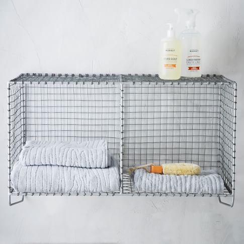 Wire Mesh Hanging Double Shelf