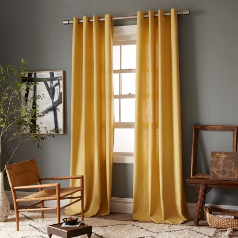 New Linen Cotton Window Panel, Grommet, 63