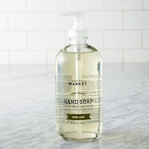 Common Good® Hand Soap, 16 oz, Glass Bottle, Sage Leaf