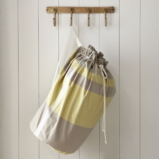 Laundry Bag, Surf Stripe, Stone White/Citron