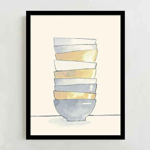 WE Print Collection, Stacked Bowls
