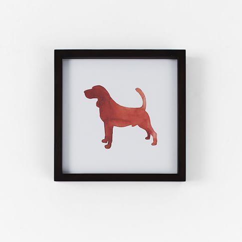 Dog Print Wall Art, Bassett Hound, 10