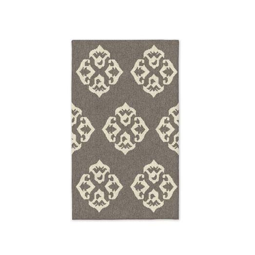 Custom Andalusia Dhurrie, Platinum, 3'x5'