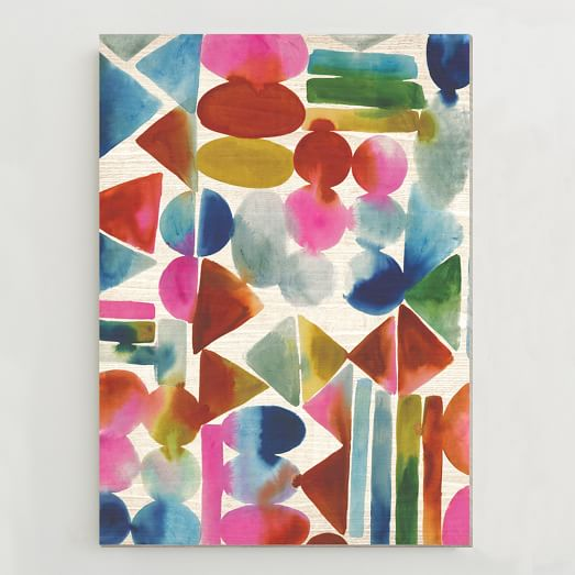 Birch Print, Watercolor Geometrics
