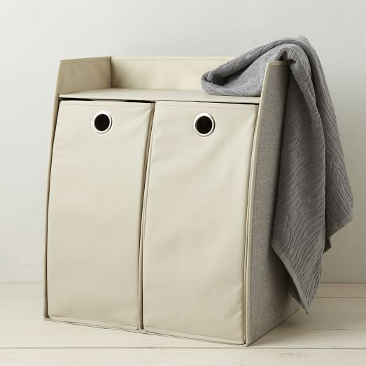Bamboo Laundry Collection, Double Hamper Station