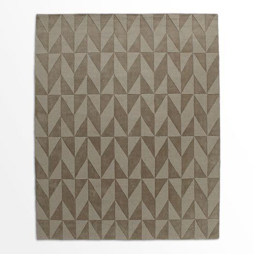 Andes Wool Rug, Soot, 9'x12'