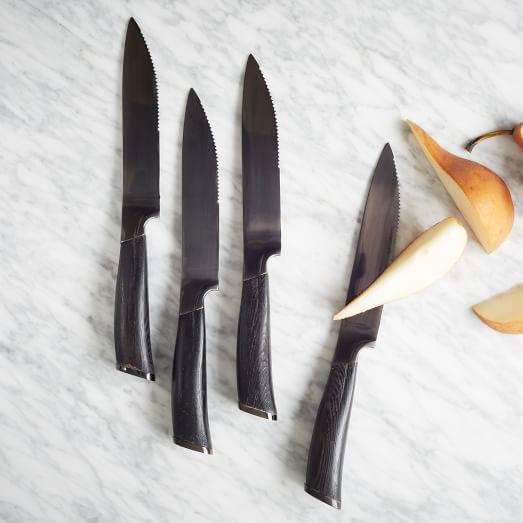 Schmidt Brothers Titanium Cutlery, 4-Pc Set, Steak Knife
