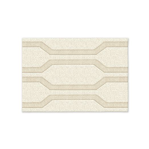 Honeycomb Textured Wool Rug, 2'x3', Ivory