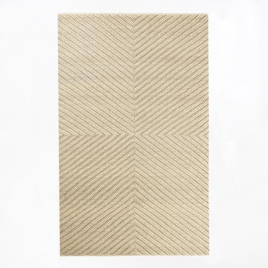 Chevron Knot Rug, 5'x8', Ivory