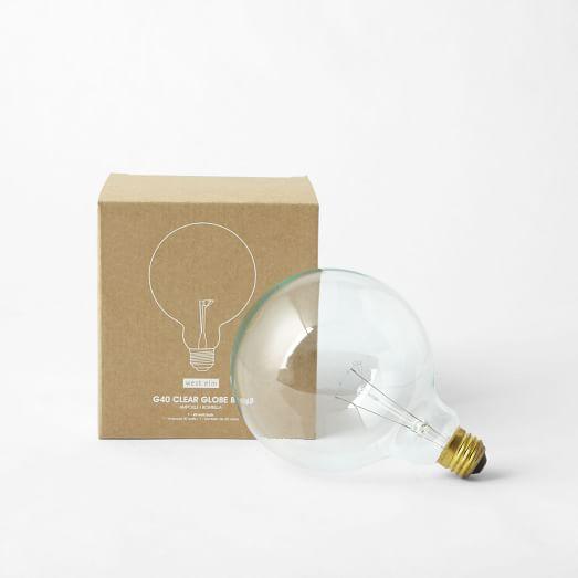 Edison-Style Bulb - Globe, 40 Watt, Clear