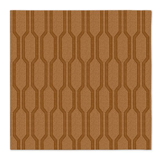 Honeycomb Textured Rug - Sorrel