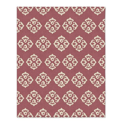 Andalusia Wool Dhurrie - Macaroon Pink