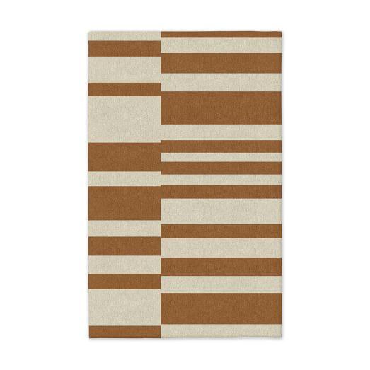 Offset Stripe Dhurrie - Sorrel