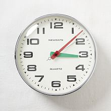Newgate Brixton Wall Clock, Chrome