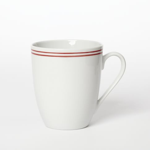 Market Red Stripe Dinnerware, Mug