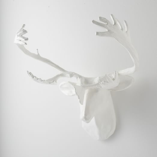 Paper Mache Wall Art, Reindeer, Large
