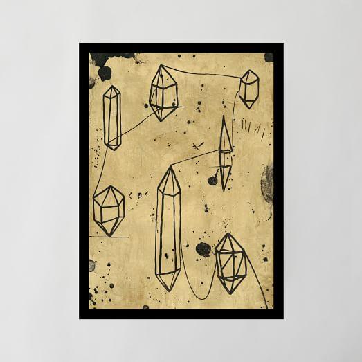 Framed Print, Crystal Journey