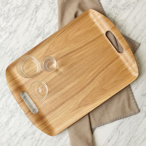 Wood Veneer Tray, Light Wood