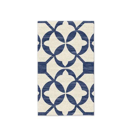 Tile Wool Kilim - True Blue