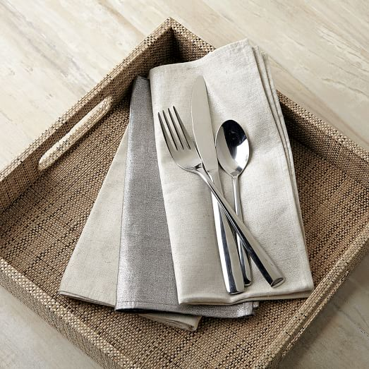 Metallic Napkin, Set of 4, Champagne