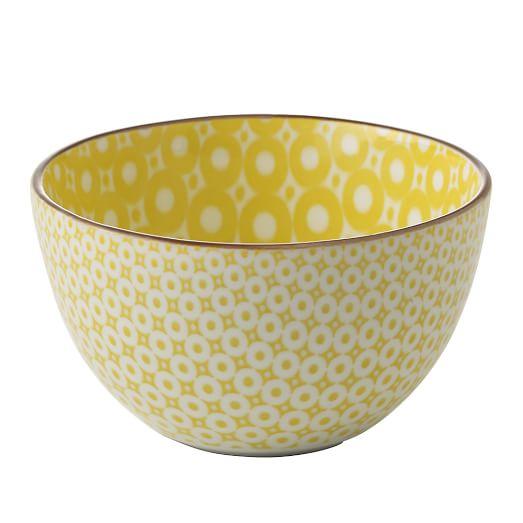 Modern Bowl, Mod/Yellow