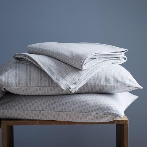 Heritage Flannel Sheet Set, Twin, Graphite