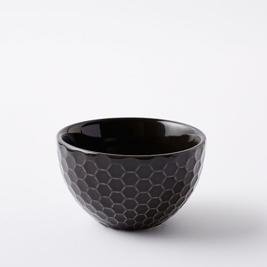 Textured Dip Bowl, Slate, Honeycomb