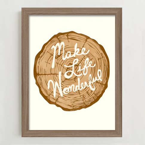 Framed Print, Make Life Wonderful