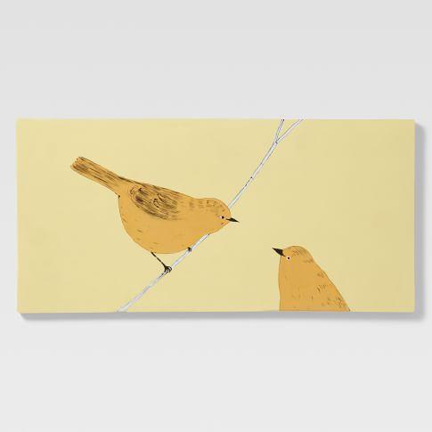 Gemma Orkin Tile, Large, 2 Birds