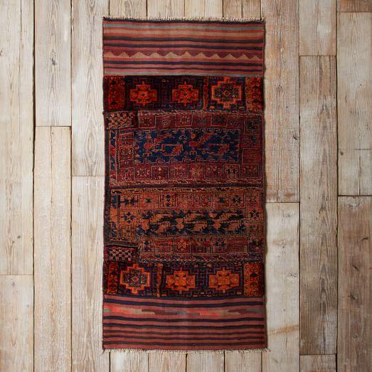 Assorted Turkish Rugs - Orange Motiff, 6.7x3