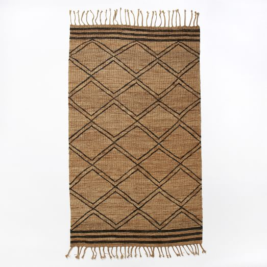Samaya Soumak Jute Rug, 5'x8', Natural