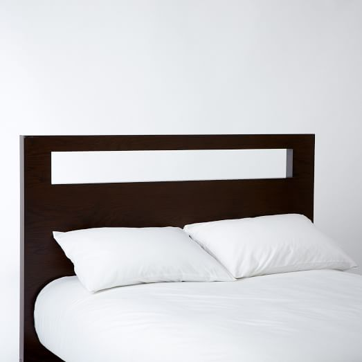 Tall Wood Cutout Headboard Twin, Chocolate