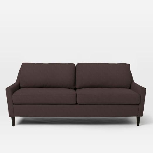 "Everett 76"" Sofa, Basketweave, Iron"