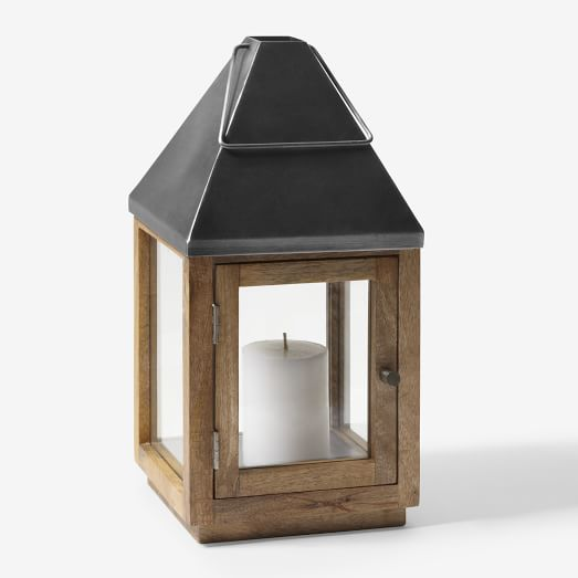 Wood + Metal Lantern, Small