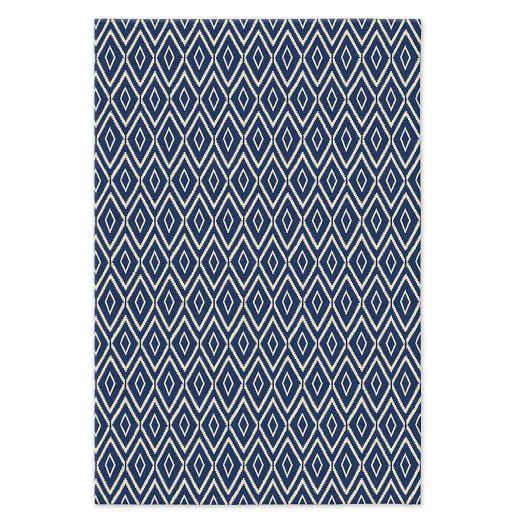 Kite Wool Kilim - True Blue