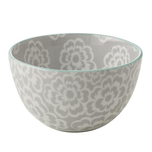 Modern Bowl, Petals/Gray