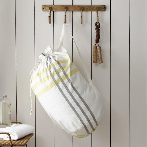 Laundry Bag, High Tide, Stone White/Citron
