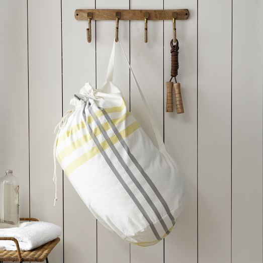 Laundry Bag, High Tide, Stone White/Citron