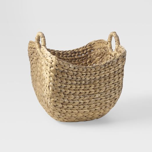 Curved Basket, Small, Natural