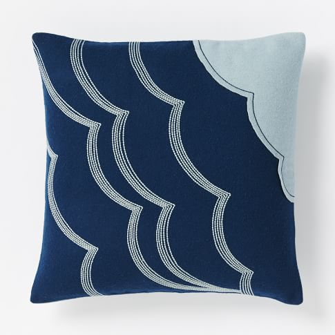 Coyuchi Wave Pillow Cover, 16