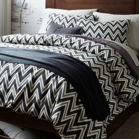 Zig Zag Layered Bed Set, Extra Long Twin, Slate