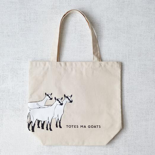 Market Tote Bag, Totes Ma Goats