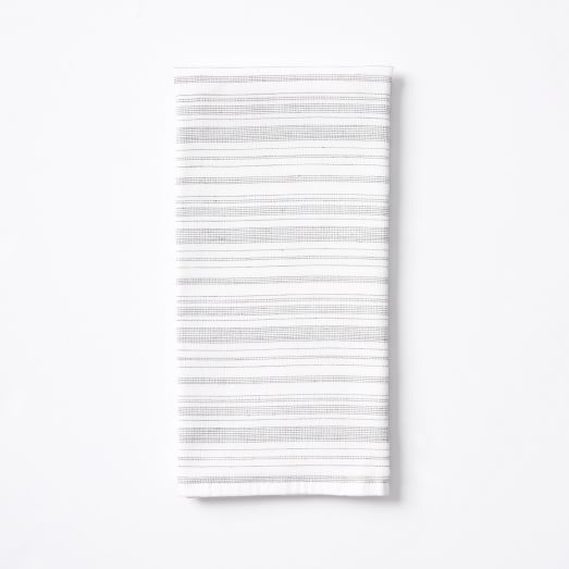 Spa Stripe Hand Towel, White/Anthracite