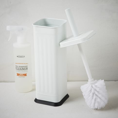 Epoxy Square Toilet Brush + Holder