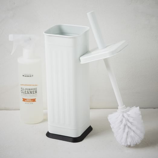 Epoxy Square Toilet Brush + Holder